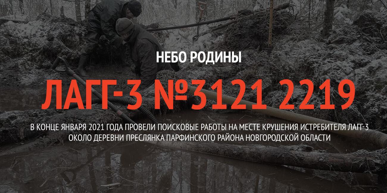 В конце января 2021 года провели поисковые работы на месте крушения истребителя ЛаГГ-3 около деревни Преслянка Парфинского района Новгородской области